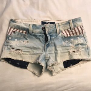 YMI Shorts - Denim American flag shorts